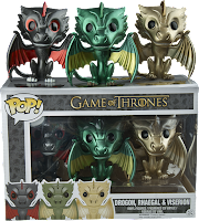 Funko Pop! Drogon, Rhaegal & Viserion Metallic Pack