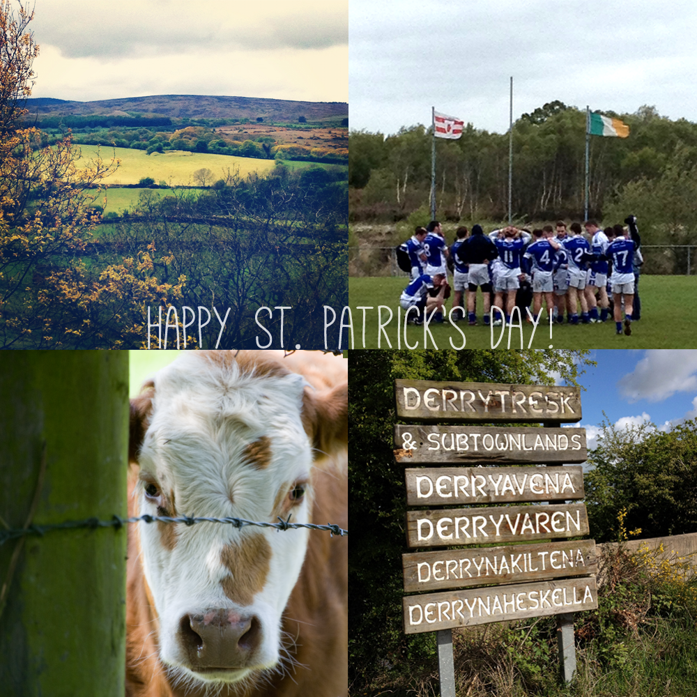 the Irish countryside, Derrytresk, Derryavena, and the Derrytresk Irish football team