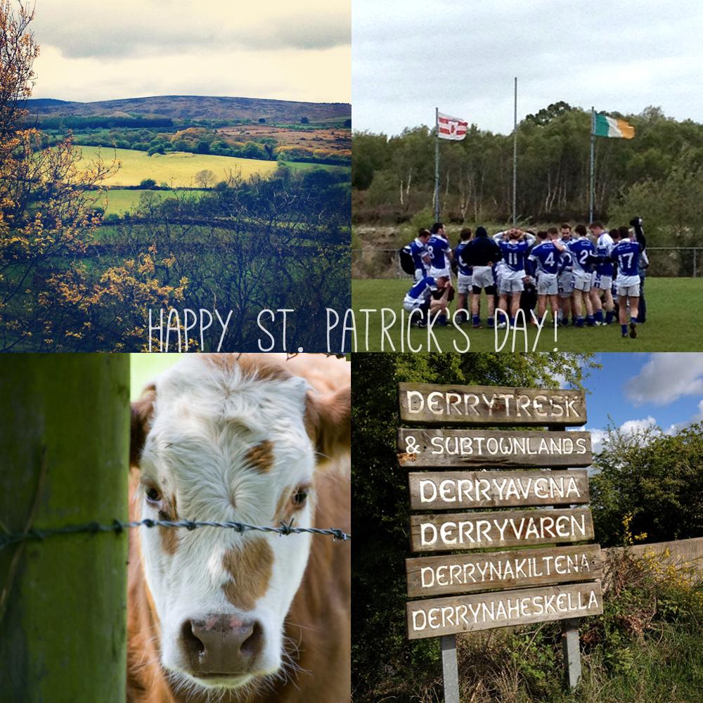 the Irish countryside, Derrytresk, Derryavena, and the Derrytresk Irish football team