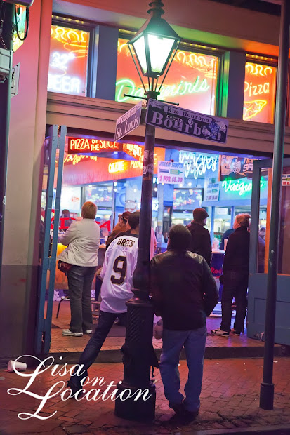 Everyone seemed to wear a Drew Brees jersey during the Saints' playoff game while on Bourbon Street in the French Quarter