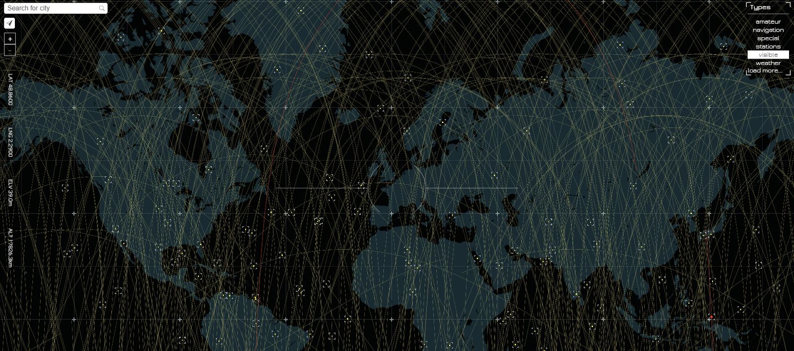 Live satellite tracking