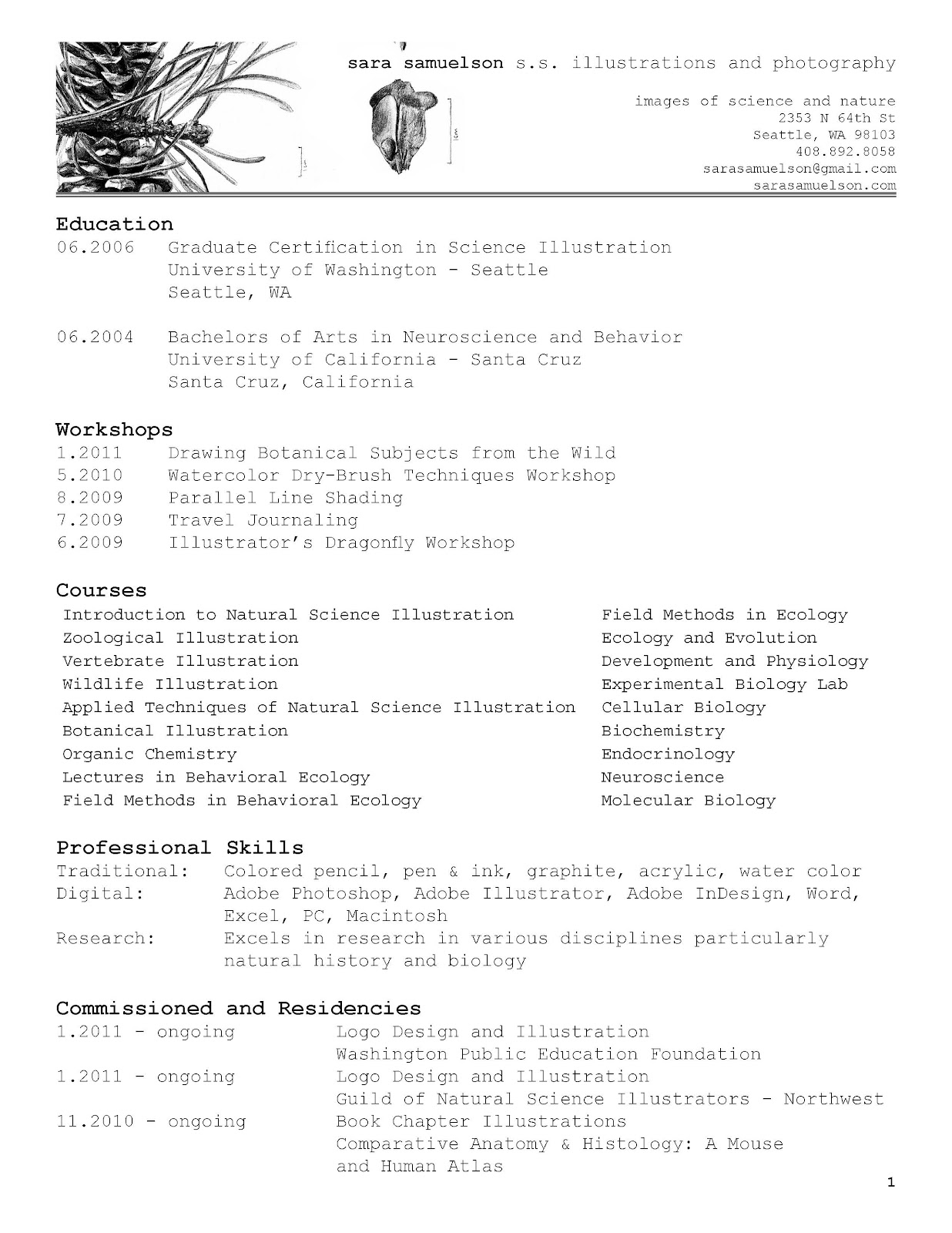 photography resume
