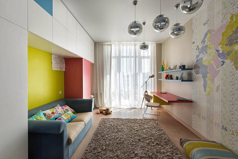 Узкая комната дизайн детская