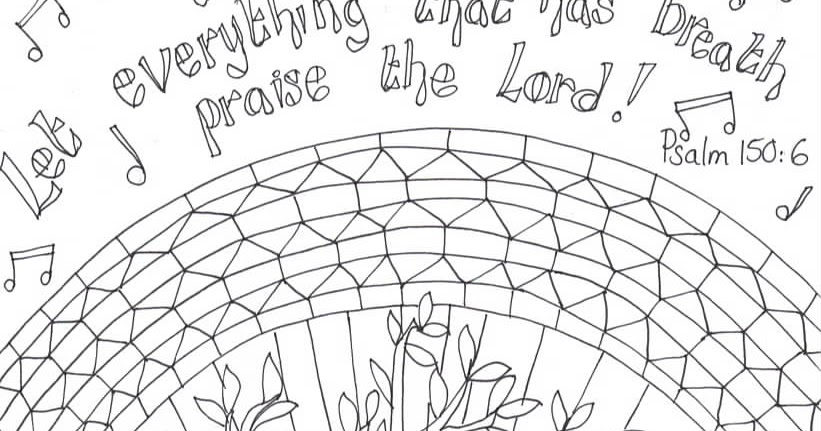 flame creative childrens ministry printable reflective worship colouring sheet psalm 150 - Psalm 56 3 Coloring Page