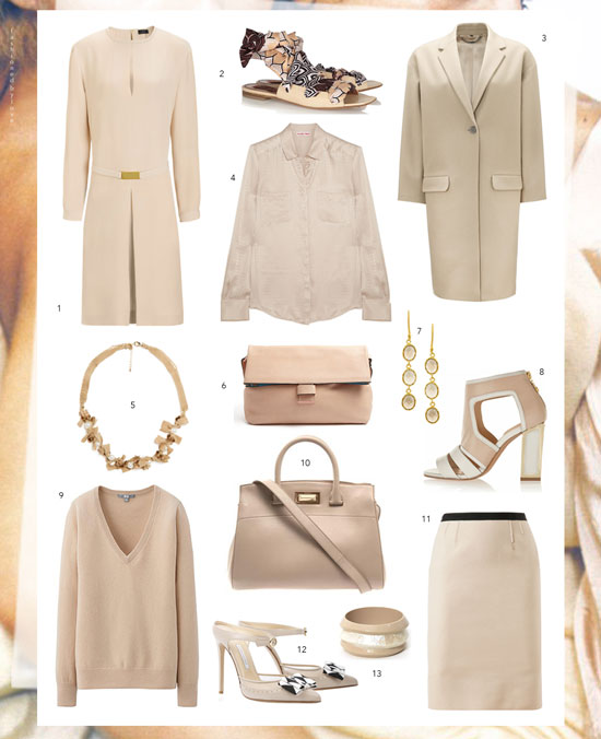 Inspired by Pantone Spring/Summer 2014 colour report | Sand | Nude & beige classic wardrobe buys