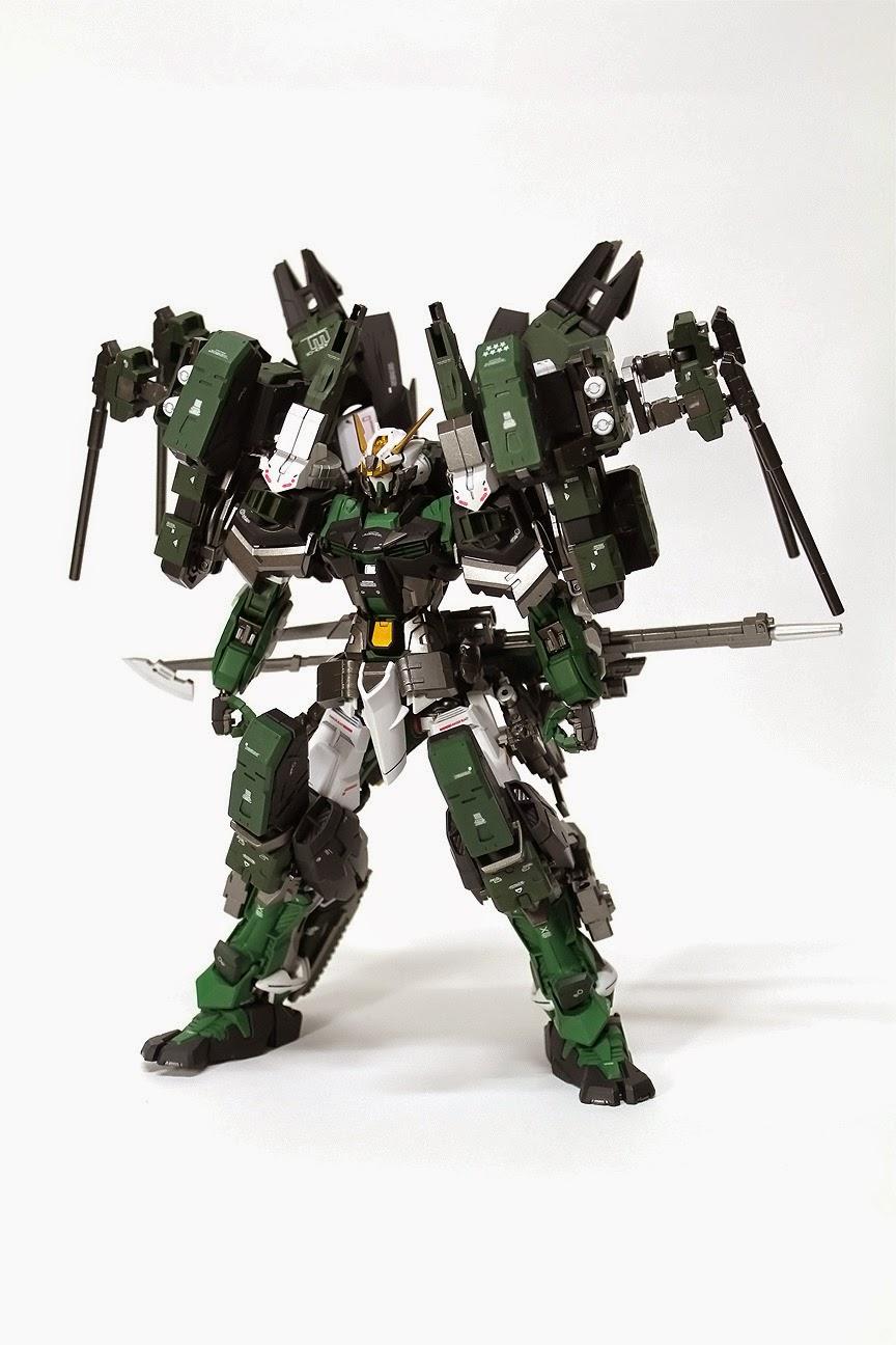 Custom Build: 1/100 Gundam Astray Green Frame 2nd Gear