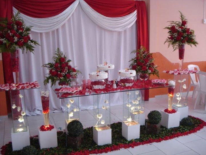 Decorações de Casamentos  Decoração de casamento mesa principal