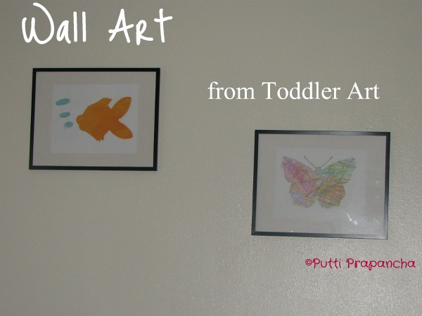 wall art from kids art 