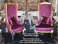 Jepara sofa ukir klasik swing chair gold leaf modern french furniture klasik Indonesia