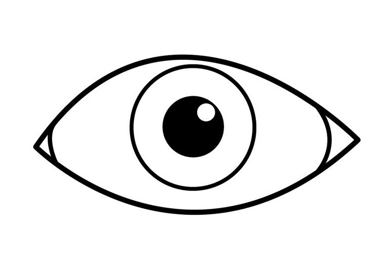 Глаз картинка раскраска
