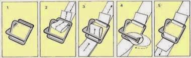 Как правильно заправить ленту в стальную пряжку