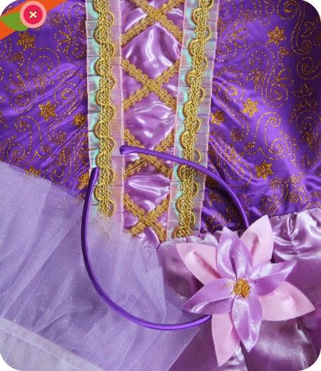 Costume de Raiponce éclat pour enfant - Chez Funidelia.fr