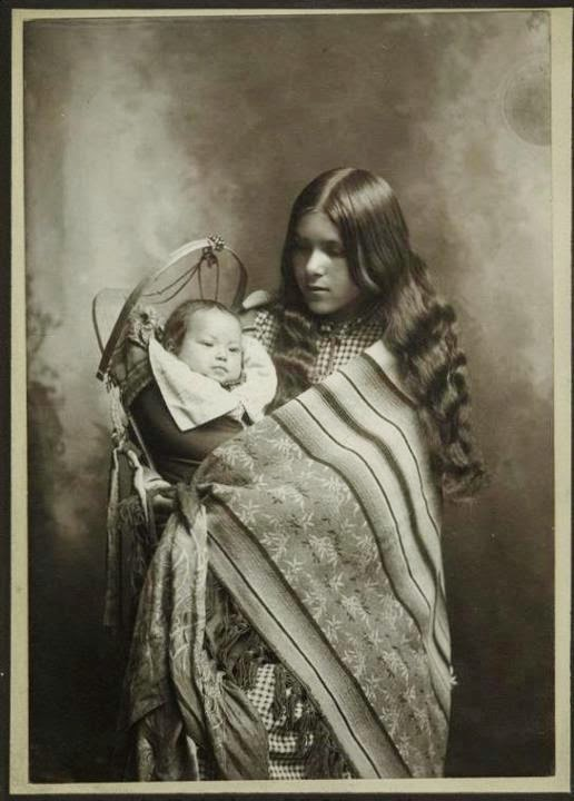 Native American Mother And Child Art Portraits of Native Pe...