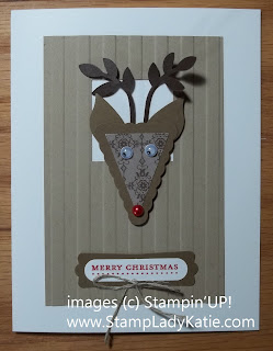 Card with a punch art reindeer