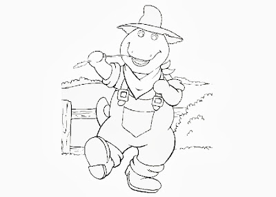 Barney Coloring Pages for Kids