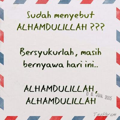 Ungkapkan Alhamdulillah