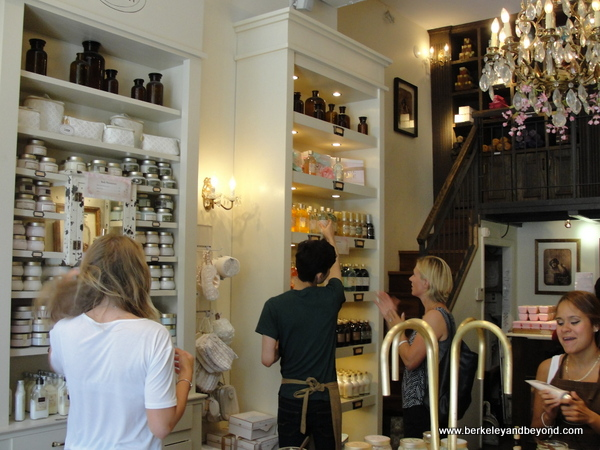 interior of Sabon shop in NYC