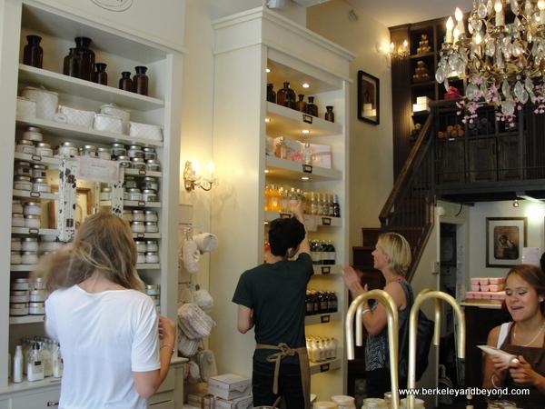 interior of Sabon shop in NYC