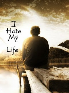 I Hate My Life 240x320 Mobile Wallpaper #14