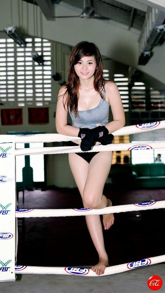 Hotgirl Châu Dương sexy với trang phục boxing 16