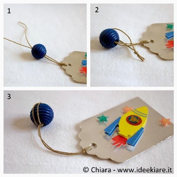 segnalibro per bambini con sticker astronave