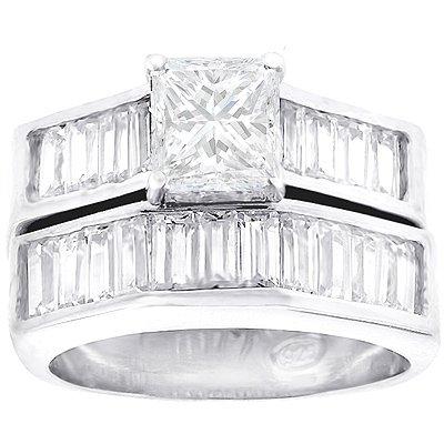 Design Wedding Rings Engagement Rings Gallery: 3 Carat Princess Cut ...