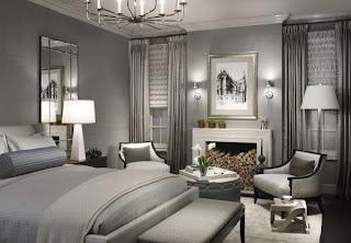 habitación gris plata