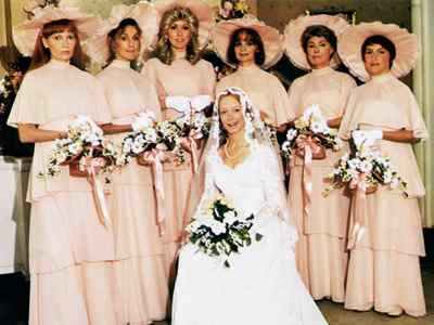 Humor feast extreme hoop skirts whoever said pretty in pink wasnt looking at the bridesmaid dresses from this 1978 robert altman dark comedy the four tiered design of these dresses is junglespirit Gallery