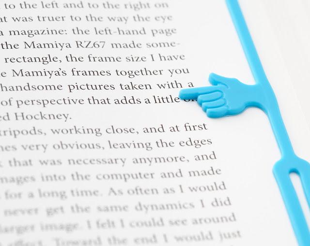 marca pagina criativo borracha dedo