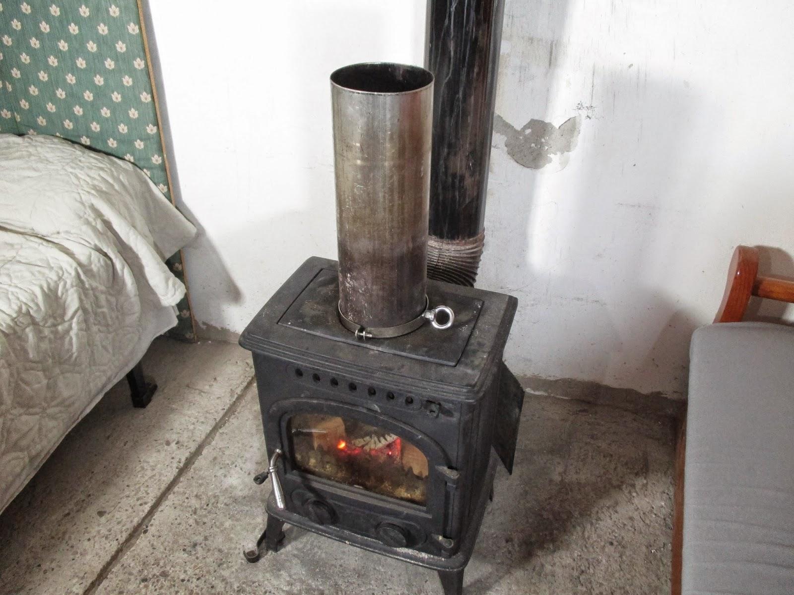 Calor por un tubo estufas de le a - Estufa lena pequena ...
