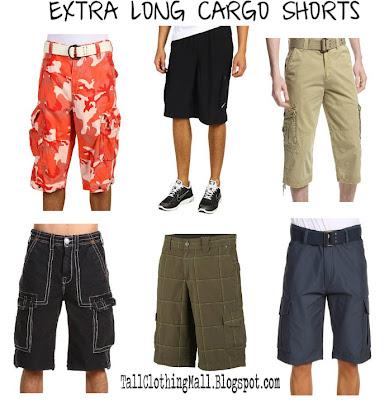 men's extra long cargo shorts
