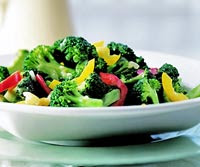 Orange-Sauced Broccoli and Peppers