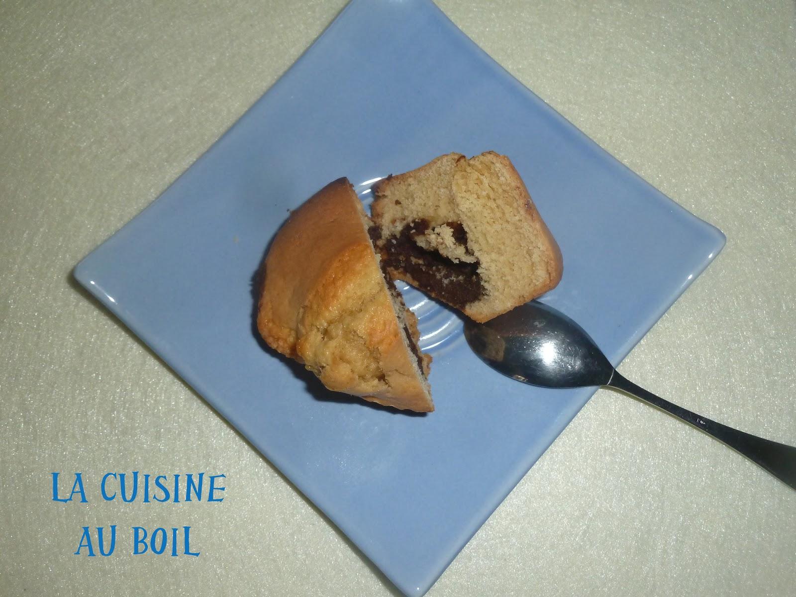 La cuisine au boil muffins au coeur de nutella for Au coeur de la cuisine