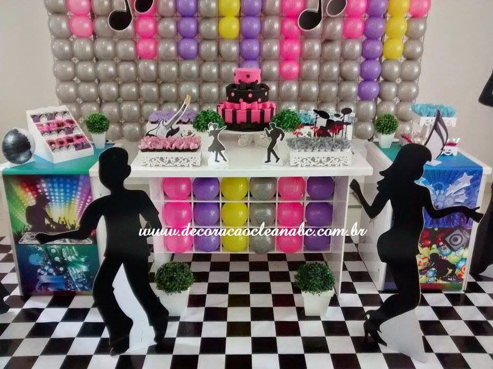 decoracao festa notas musicais: , Decoração Clean Música, Festa Música, Festa Notas Músicais