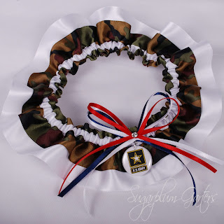Custom U.S. Army & Camo Wedding Garter