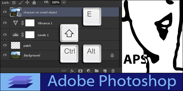 Stamp All Visible Layers in Adobe Photoshop