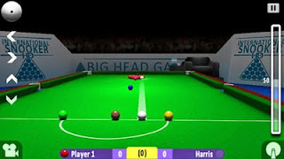 Screenshots of the International Snooker HD for Android tablet, phone.