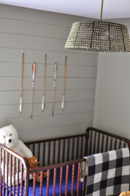 Outdoorsy, camping, boy scout nursery.  Rope Herringbone Light