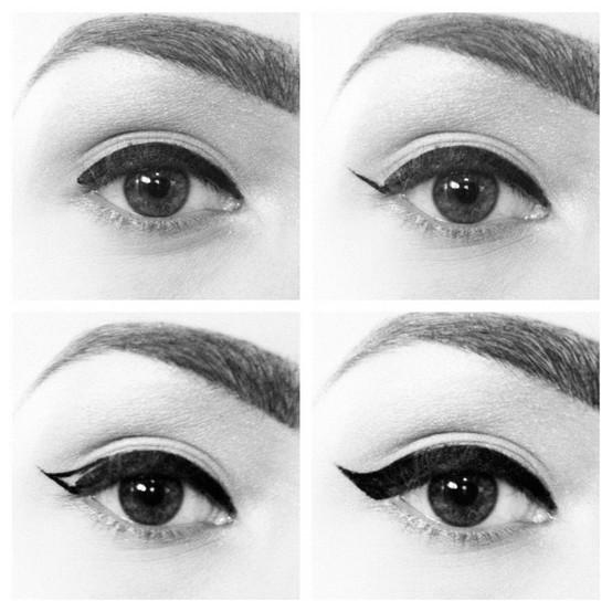Jess 39 make up comment r aliser un trait d 39 eye liner parfait - Comment mettre eye liner ...