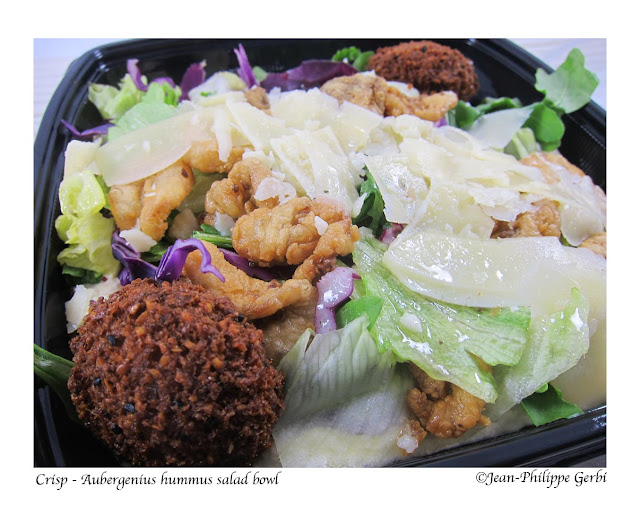 Image of Aubergenius salad bowl at Crisp on Wheels Food Truck in Hoboken, NJ New Jersey