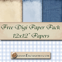 Free Mouse Digital Scrapbook Papers