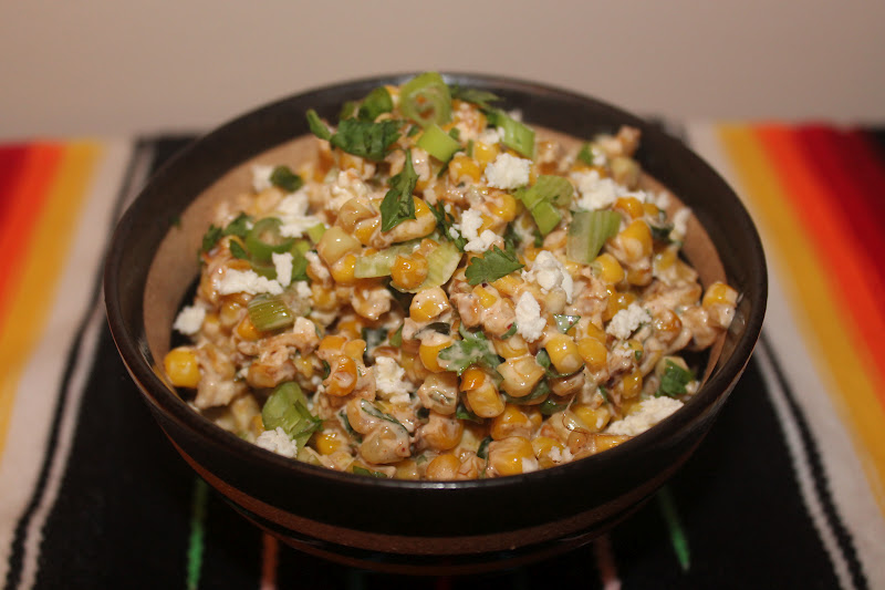 Savory Moments: Warm Mexican corn salad
