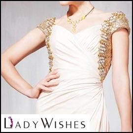 Off-White Modest Prom Dress