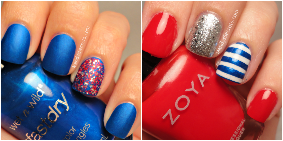 Simple 4th of july nail designs th of july nail ideas easy top holiday nail designs for july th new famous view images easy prinsesfo Gallery