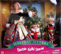 1998 Barbie Kelly Stacie Holiday Sisters Special Edition Gift Set