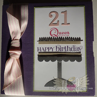 21st Birthday CD Card