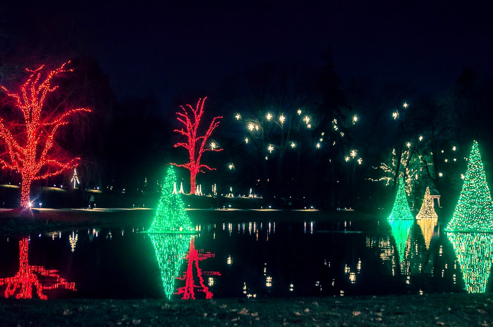 the night time christmas lights at longwood gardens are just magical talk about feeling like a kid again around every corner there is another reason to