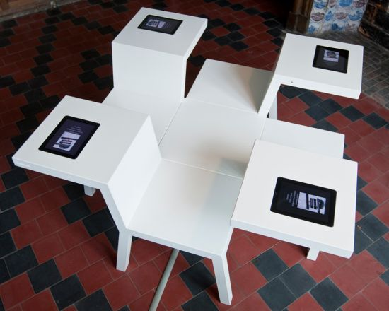 The Salsa Four Seats Table Includes iPads