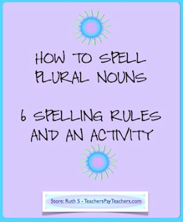 photo of How to Spell Plural Nouns PDF work page by Teacher Park