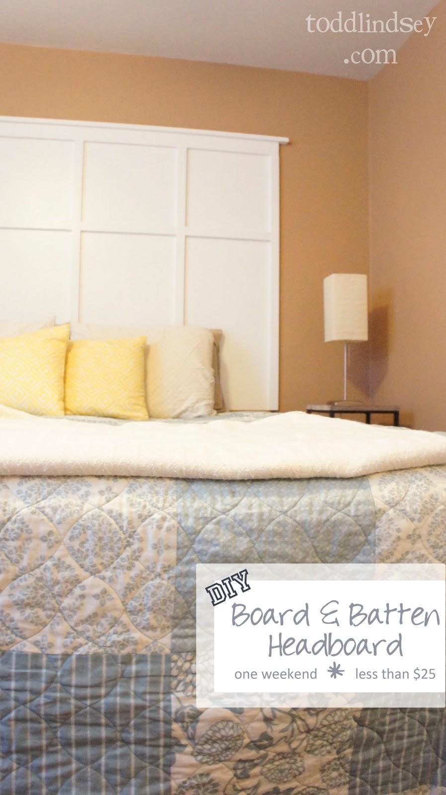 Domer Home: DIY Board & Batten Headboard